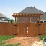 Privacy Arched Wood Fence-Residential
